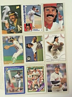 9 Card Lot LOOK!! NICE!! MINT Hall of Fame Dennis Eckersley  598