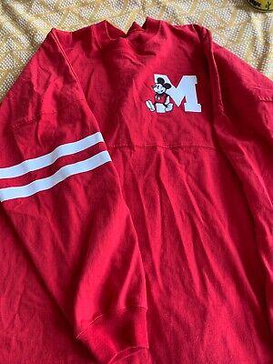 Disney Mickey Mouse Spirit Jersey Red White XL