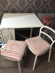 IKEA NORDEN Foldable table + 2 chairs and cushions for SALE