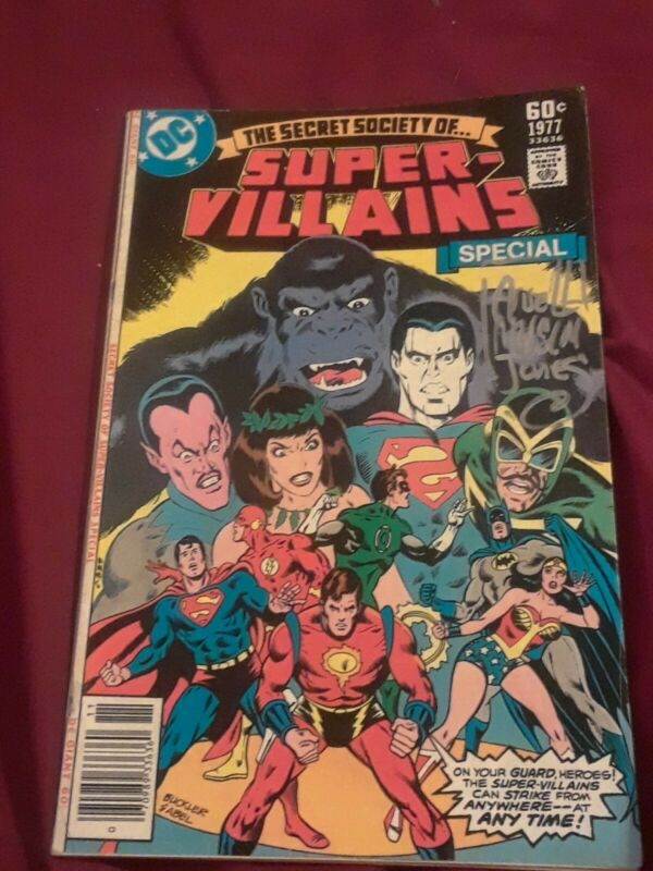 Secret society of super villains Special 1977 SignedbyArvellJonesforsalenoreturn
