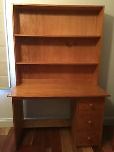 Wooden desk with shelves and drawers Marrickville Marrickville Area Preview