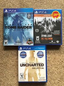 PS4 Games for Sale - Dying Light, Uncharted, Tomb Raider