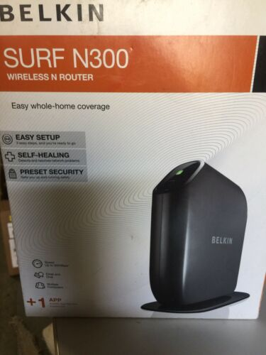Belkin Surf N300 300 Mbps 4-Port 10/100 Wireless N Router