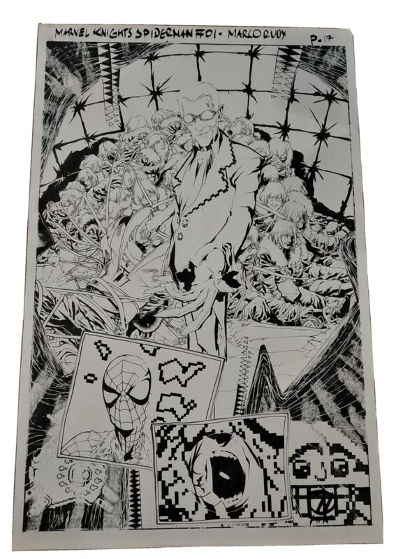 MARVEL KNIGHTS SPIDER-MAN #1 PAGE 17 - MARCO RUDY SPLASH/ORIGINAL ART NICE!