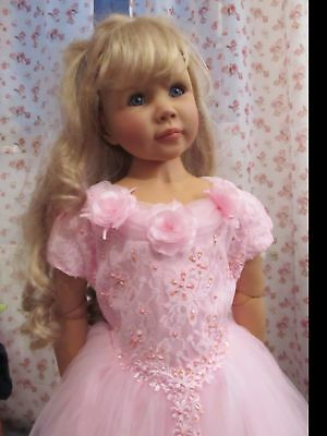 Rosa Königin Kostüme (Prinzessinenkleid 128 Kostüm Prinzessin Kleid Fee Königin Schloß rosa Tüll Neu)