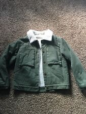 Olive Green Sherpa Lined Jacket Women's Size Small | eBay