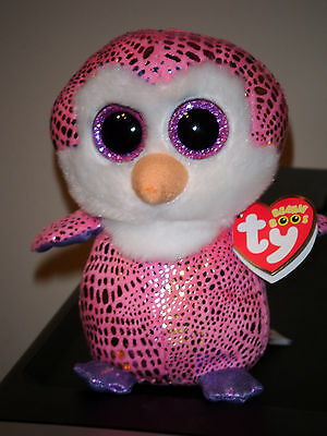 "Ty Beanie Boos ~ PATTY the 6"" Penguin ~ Justice Exclusive ~ NEW with MINT TAGS"