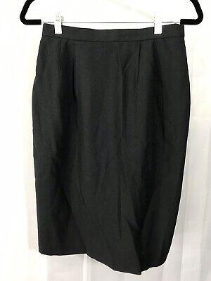 Vintage Womens Size 10 Black A-Line Skirt Pockets Lined Dress Wear