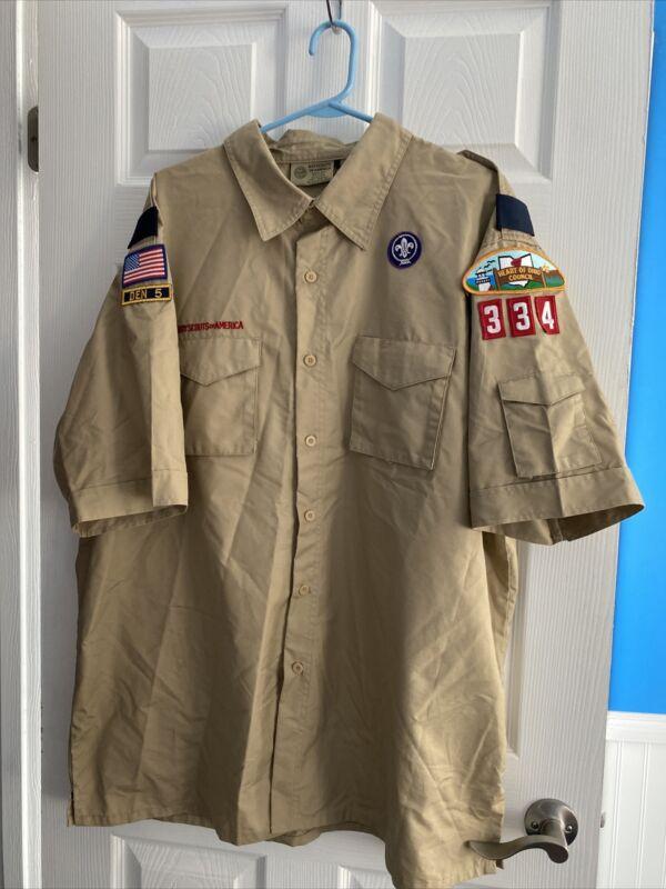 Boy Scouts of America Uniform Shirt Men's 2XL Heart Of Ohio Council