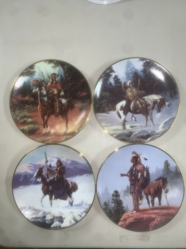 The Hamilton Collection The Last Warriors Plate Collection: Set Of 7 Plates