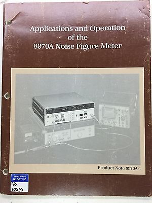 Hp 8970a Noise Figure Meter Applications Operation Manual Pn 5952-8254