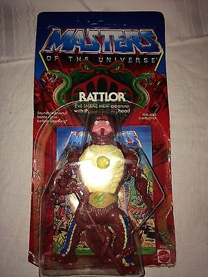 Motu  Rattlor  Masters Of The Universe  Moc  Carded  He Man  Figure  Sealed