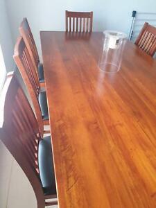 Wood kitchen table