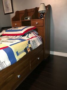 Children's Solid Wood Mates Bed / Captain's Bed