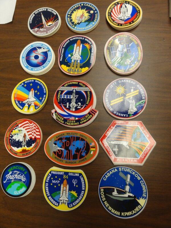 LOT SET OF 15 DIFFERENT SPACE AND ROCKET STICKERS NASA MERCURY GLENN TANNER SEGA