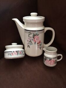 Teapot/Coffeepot with cream and sugar    $5.00