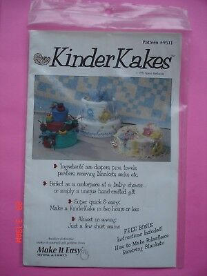 Diaper Cakes Make (Make it Easy Kinder Kakes Diaper Cake Pattern #9511 )