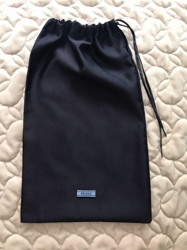 New Prada Silk Drawatring Navy Color Shoe/Purse Dustbag (8.5x14) $12