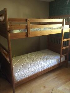 Solid wood twin bunks