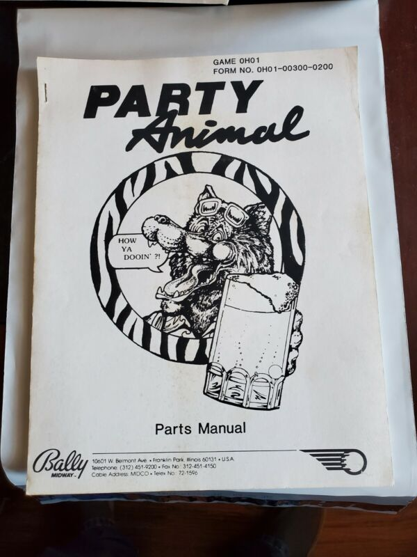 Party Animal part manual only