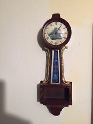A Banjo Clock By The Newhaven Clock Co