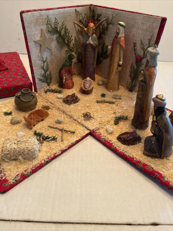 Nativity Scene in a Gift Box