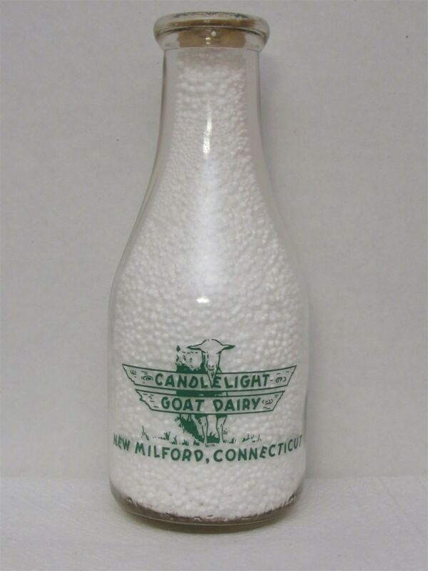 TRPQ Milk Bottle Candlelight Goat Dairy New Milford CT LITCHFIELD COUNTY 1941