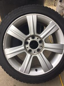 Set of 4 BMW Winter Tires with Alloy Rims