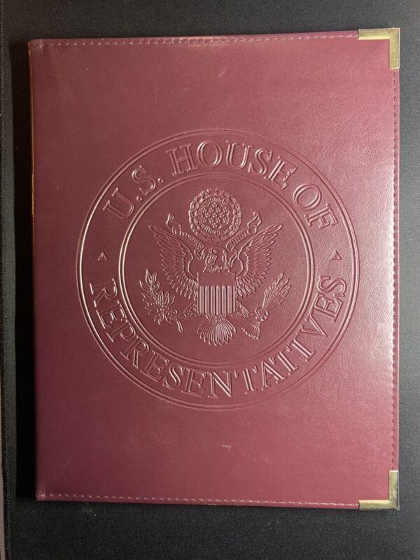 US House of Representatives Burgundy/Red Leather Folder