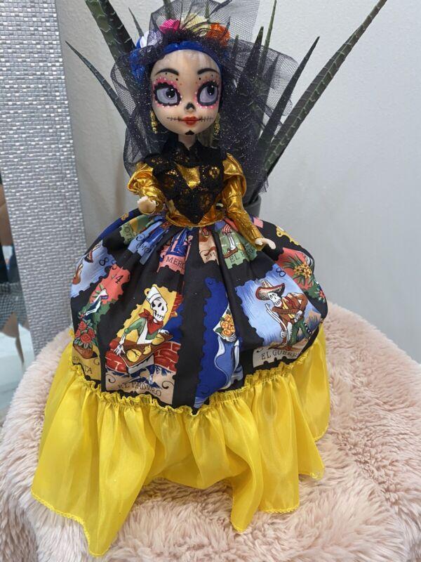 """Frida Kahlo Artesanal Doll/Muñeca de Frida Kahlo  Catrina 13"""" Tall"""