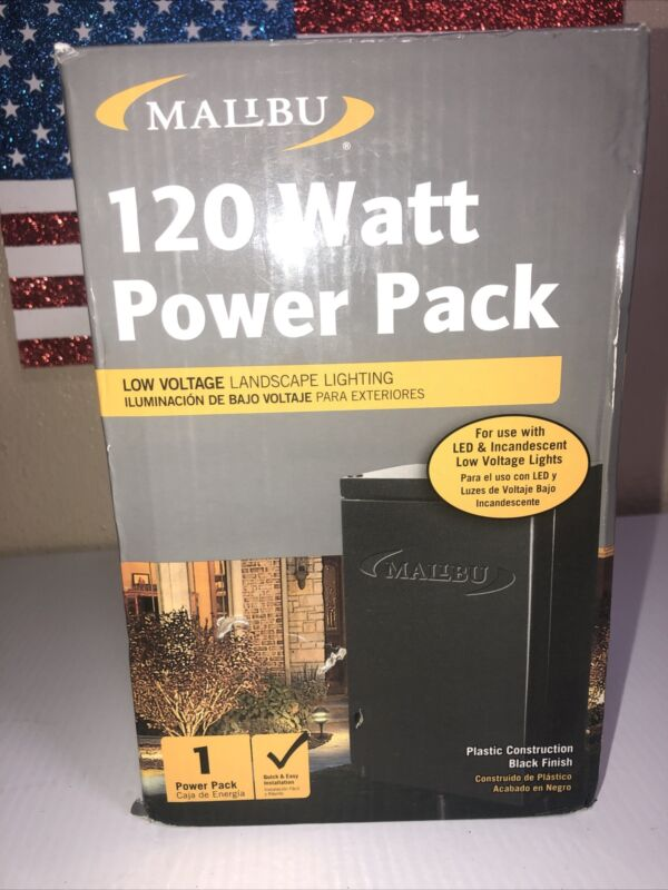 Malibu 120 Watt Power Pack For use w LED Incandescent Low Voltage Lights OpenBox