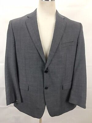 Calvin Klein Sport Coat 2 Button Front Blazer Suit Mens Size 46R 100% -