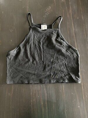 H&M Crop Top Size Large Black Womens Worn Once Excellent Condition Summer Casual
