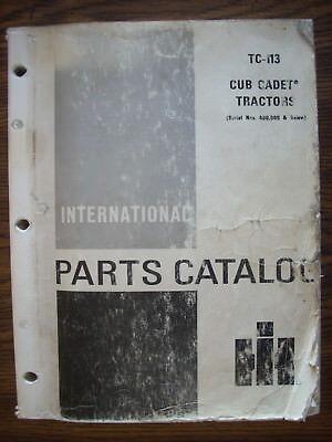 Ih Farmall Mccormick International Cub Cadet Parts Manual