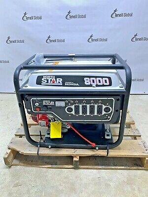 North Star Item 165604ac 8000w Generator Electric Start Honda Gx390 Engine Y16