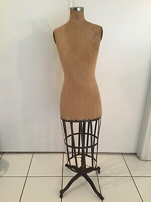 Vintage 1940s Women Mannequin Cast Iron Base Full Body Read Details