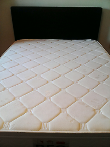PU leather queen bed with firm pillow top mattress Shailer Park Logan Area Preview