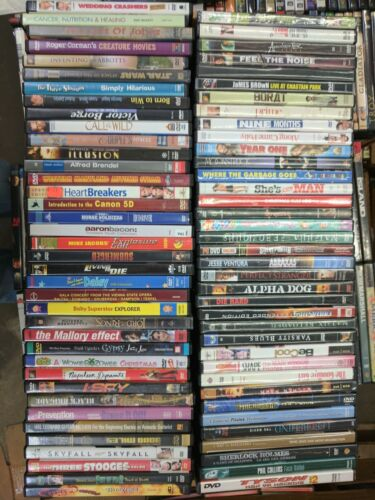 80 Bulk Used DVDs - Great Variety!