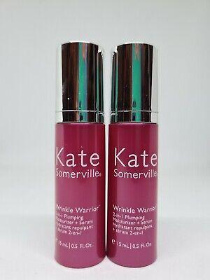 2x Kate Somerville Wrinkle Warrior 2-in-1 Plumping Moisturiser + Serum 15ml Each