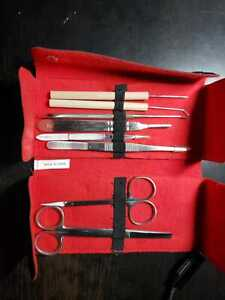 Stainless Steel Dissection Kit Biology Student Lab Tools