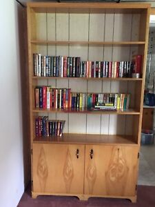 Sold PPU - Large solid wood bookcase for sale