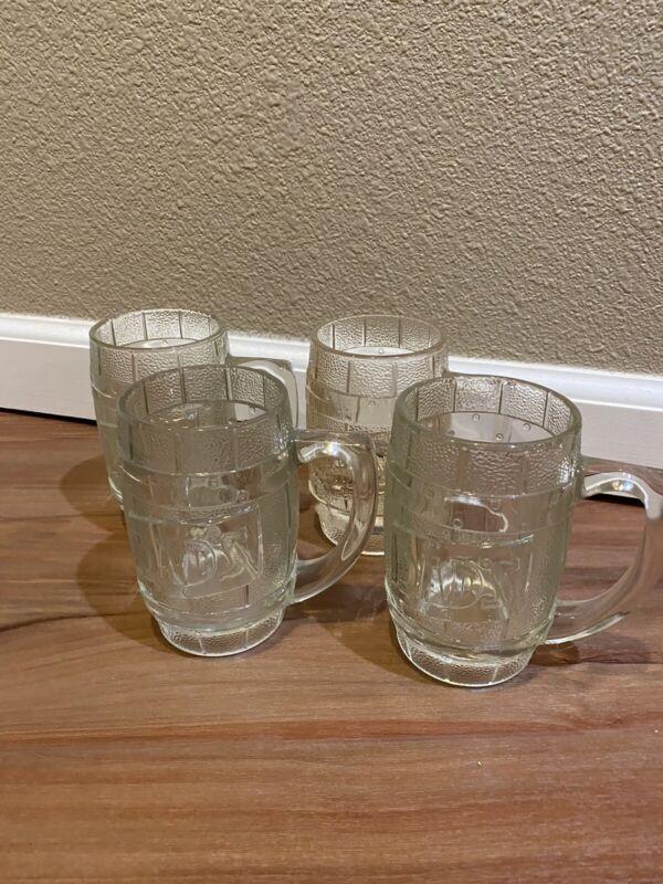 Vintage Dad's Root beer mugs, Set Of 4