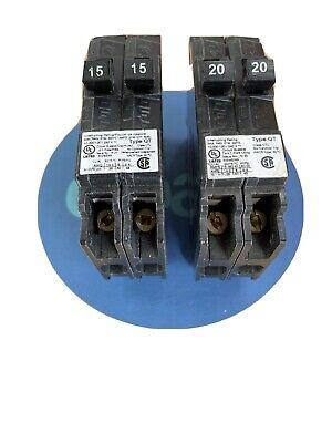 Circuit Breaker 15A 120//240-V 1-Pole Siemens QP// Murray MP-T// G.E THQL1115 Lot 3