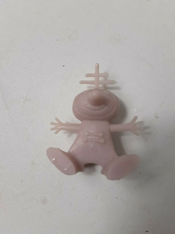 1950s Pink NABISCO SPOONMAN Cereal Box Premium Spoon Man Sitter Space Alien