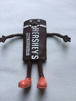 Vintage Hershey's Chocolate Bar BENDY Bendable Figure Toy Mascot 1980's Exc Cond