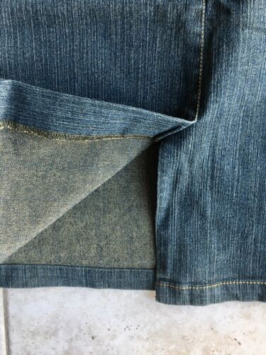 Jupe en jean carbone avec strass brillants taille 40 excellent État