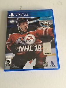 NHL 18 PS4 Excellent Condition $30