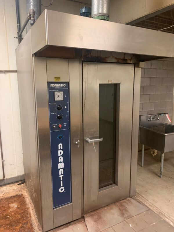 Hobart Adamatic CR0-1G Single Rack Oven Natural Gas Self-Contained