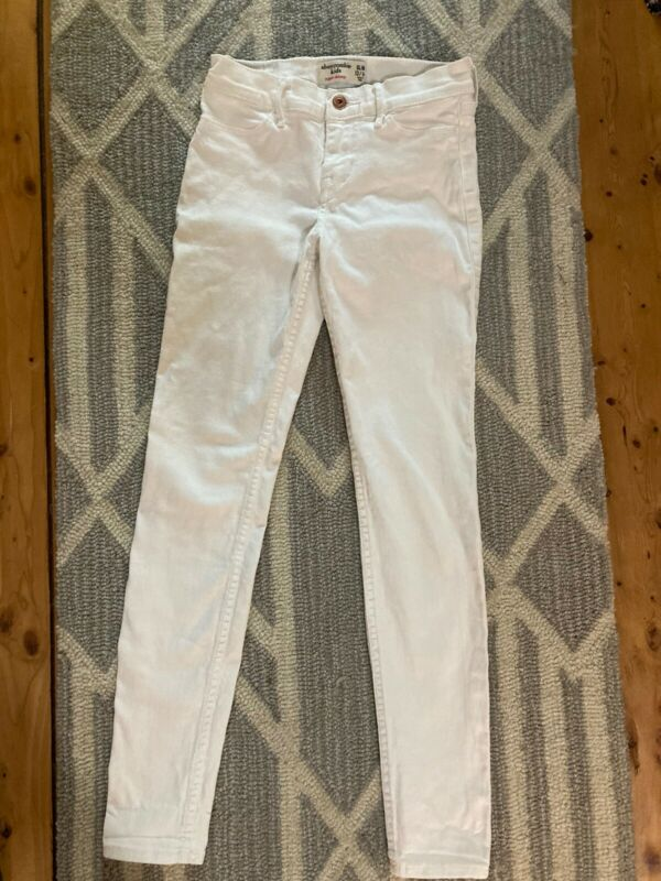 Abercrombie and Fitch Slim White Stretchy Jeans Size 13/14