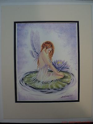 Her Special Place - Selina Fenech Her Special Place Double Matted 11x14 Cream Navy Fairy Lily Pad